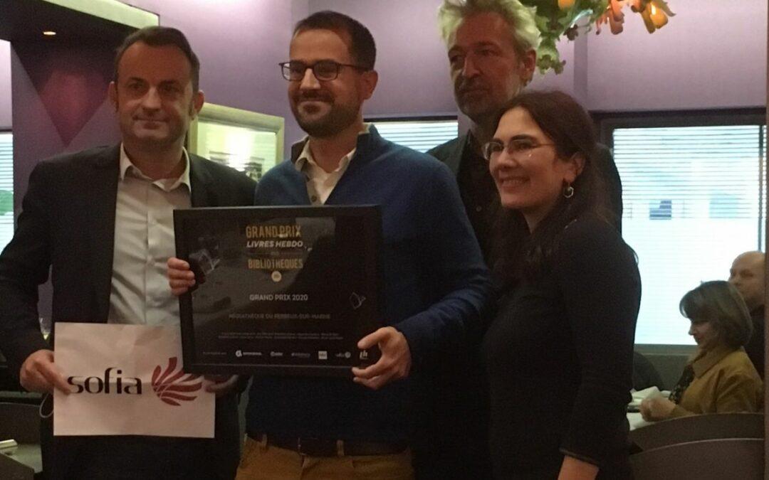 Un ancien de l'EBD reçoit Le Grand Prix Livres Hebdo des Bibliothèques 2020